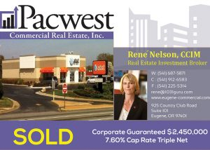 Pacwest Commercial Real Estate Helps 1031 Buyer Move From Multifamily Into a Fully-Leased Property with a 7.6% Cap Rate
