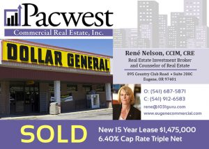 Pacwest CRE Sale Dollar General Louisville KY