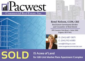 Pacwest CRE Closed: 15 Acres of Land for 168-Unit Market Rate Apartment Complex