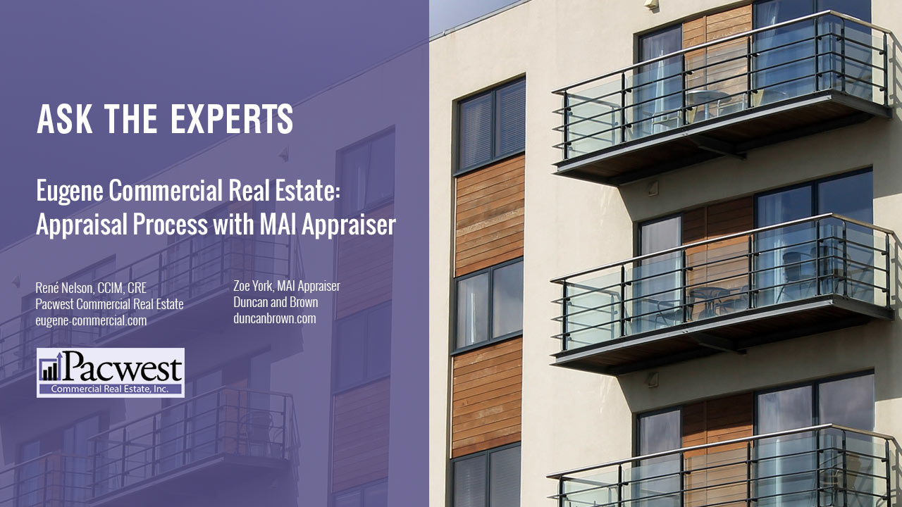 Eugene Commercial Real Estate Appraisal Process with MAI Appr