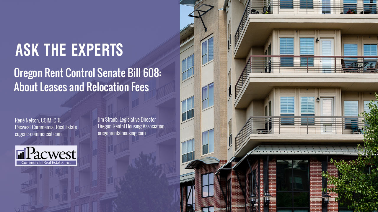 Oregon Rent Control Senate Bill 608 About Leases and Relocation Fees